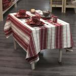 nappe carreaux grenat