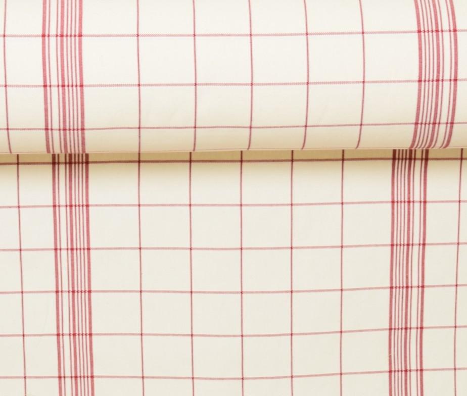toile au m tre coton carreaux rouge toile fabriqu en france. Black Bedroom Furniture Sets. Home Design Ideas