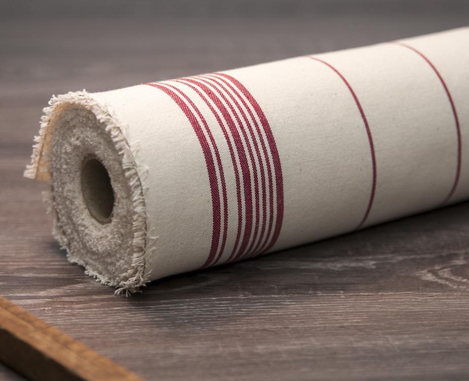toile au m tre coton ray rouge 100 naturel fabriqu en france. Black Bedroom Furniture Sets. Home Design Ideas