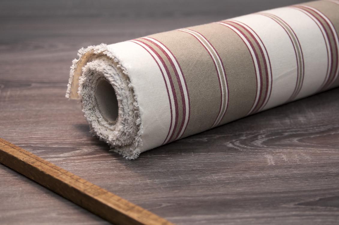 toile au m tre coton ray tabac fabriqu en france. Black Bedroom Furniture Sets. Home Design Ideas
