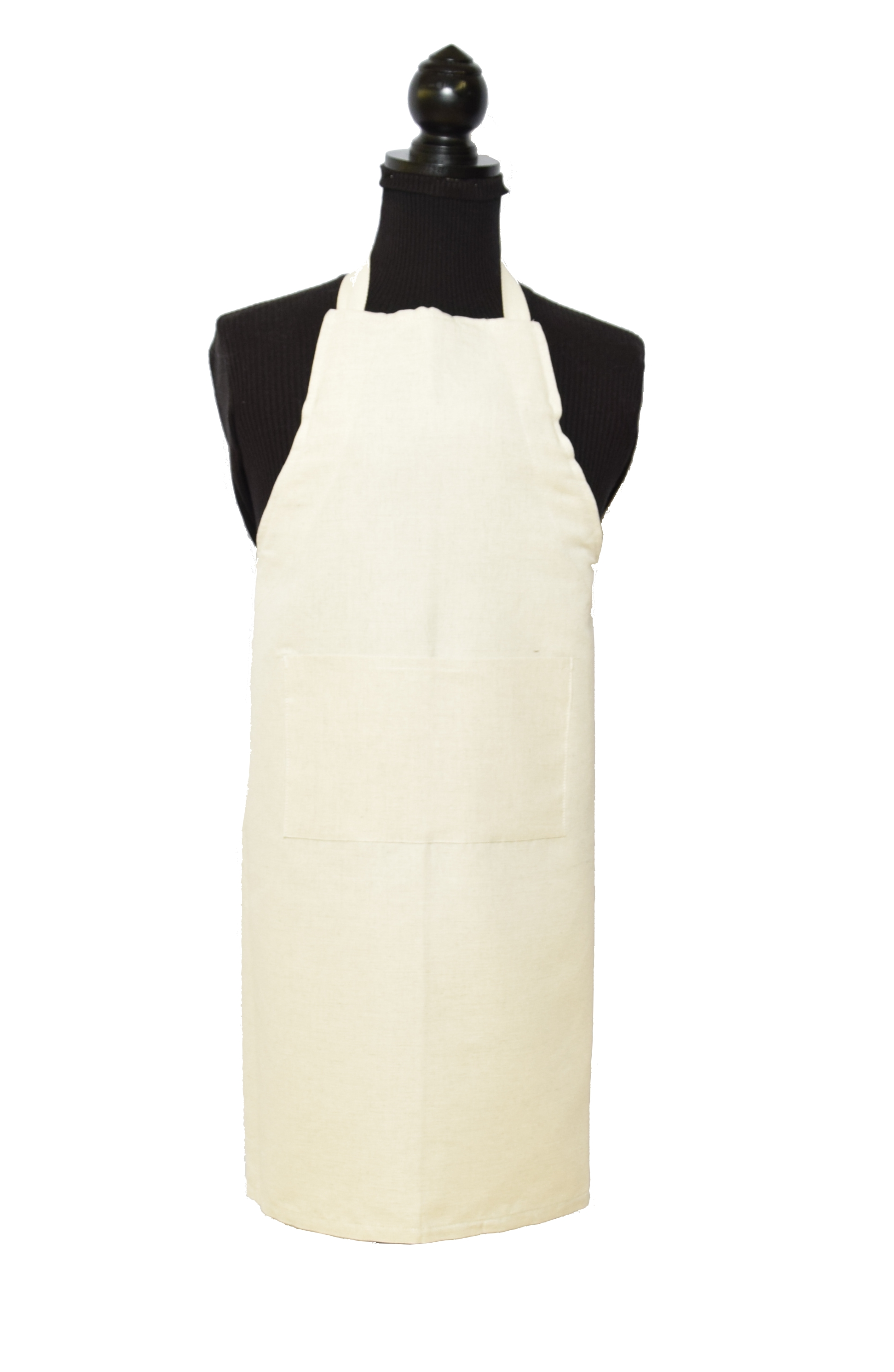 Tablier uni blanc 100 coton made in france for Tablier de cuisine uni