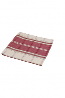 serviette de table carreaux grenat