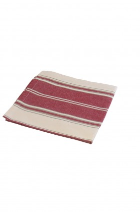 serviette de table rayee grenat