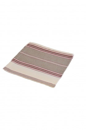 serviette de table rayee tabac