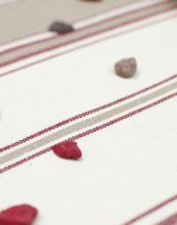motif nappe coton raye tabac