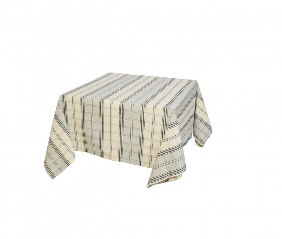 nappe en coton carreaux grise et bleu fabriqu en france. Black Bedroom Furniture Sets. Home Design Ideas