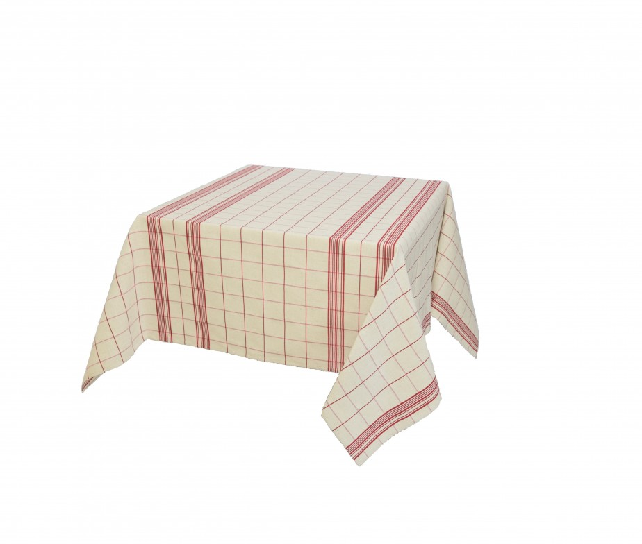 nappe coton carreaux rouge 100 naturel fabriqu e en france. Black Bedroom Furniture Sets. Home Design Ideas