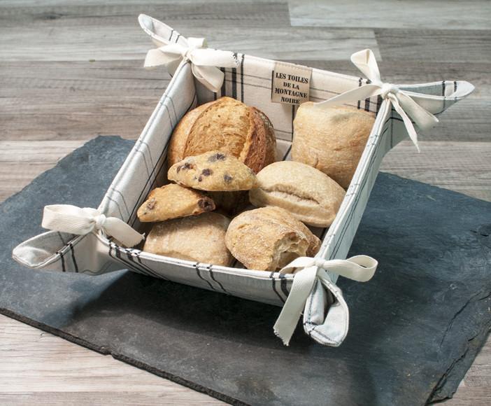 pani re pain gris bleu en carreaux 100 coton fabriqu en france. Black Bedroom Furniture Sets. Home Design Ideas