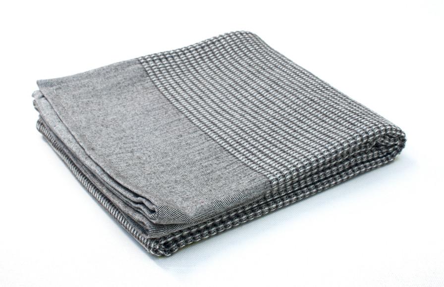plaid laine coton en nid abeille 100 naturel fabriqu es en france. Black Bedroom Furniture Sets. Home Design Ideas
