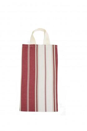 sac à pain tissu grenat