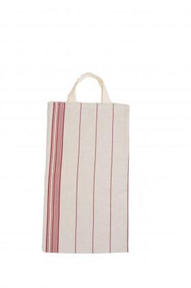sac à pain tissu rouge