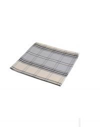 serviette de table gris en carreaux