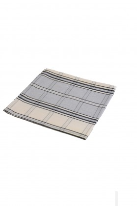 serviette de table gris en carreaux