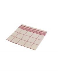 serviette de table carreaux rouge