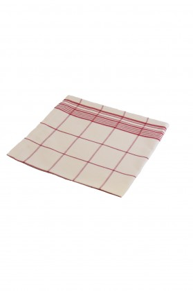 serviette de table carreaux rouge