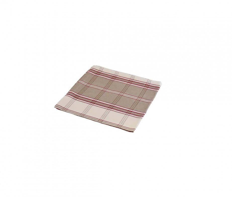 serviette de table coton carreaux tabac fabriqu e en france. Black Bedroom Furniture Sets. Home Design Ideas