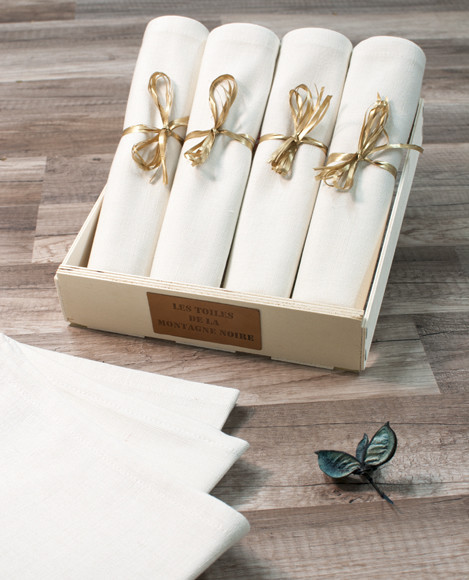 serviette de table unis coton fabriqu e en france. Black Bedroom Furniture Sets. Home Design Ideas