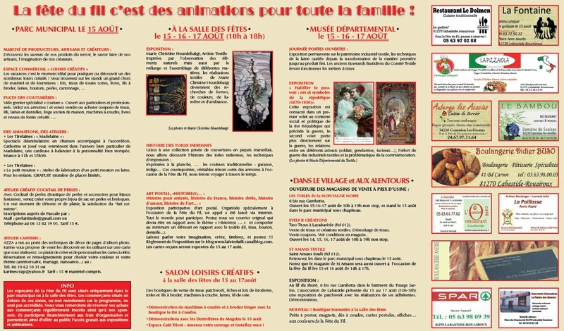 Programme fête du fil 2014