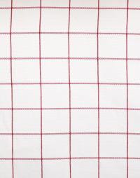 zoom coupon toile coton carreaux rouge