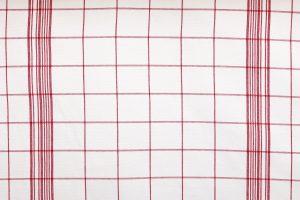 zoom coupon toile coton carreaux rouge