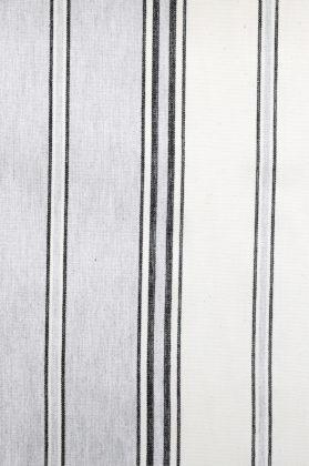 zoom coupon toile coton rayee gris