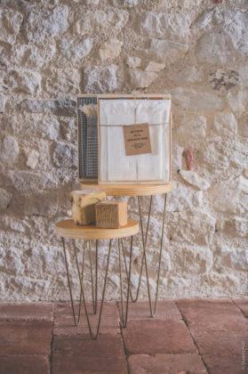 fouta nid abeille blanc coffret