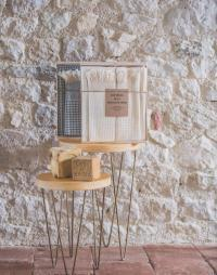 fouta nid abeille coton coffret