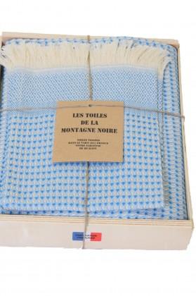coffret serviette hammam bleu