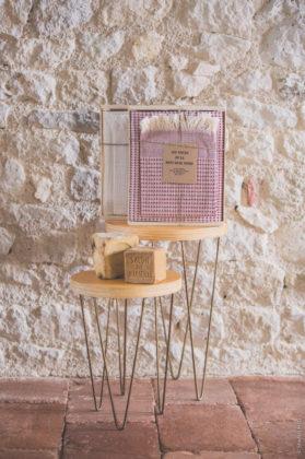 fouta nid abeille grenat coffret
