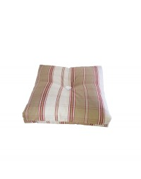coussin pure laine tabac