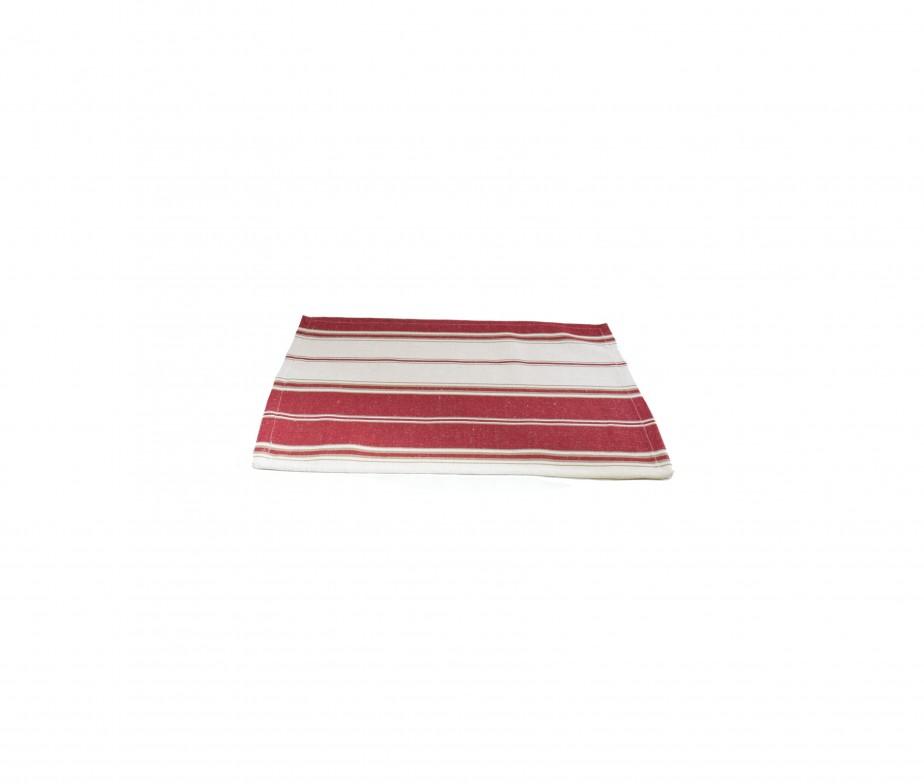 Set de table tissu rouge fabriqu en france for Set de table en tissus