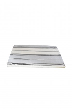 set de table tissu gris