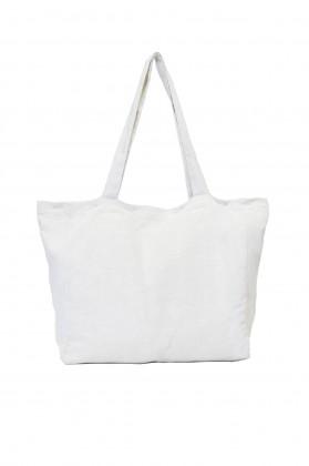 sac de plage tissu ecru