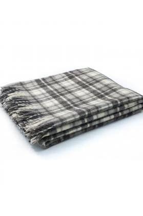 plaid pure laine écossais frangé