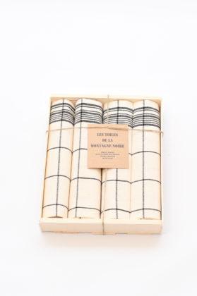 coffret-4-serviettes-de-table-cx-noir