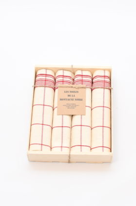 coffret-4-serviettes-de-table-cx-rouge
