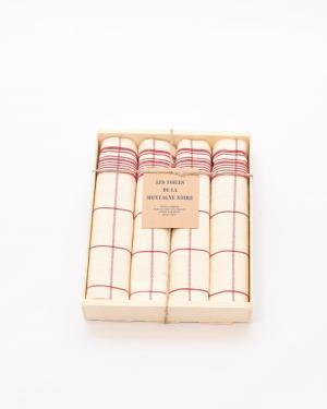 coffret-4-serviettes-de-table-cx-rouge