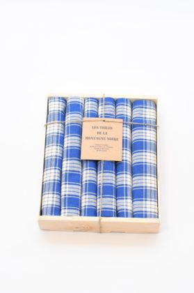 coffret-6-serviettes-de-table-carreaux-bleu