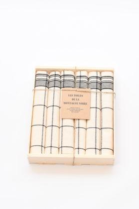 coffret-6-serviettes-de-table-cx-noir