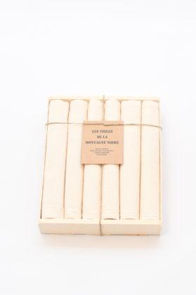 coffret-6-serviettes-de-table-ecru