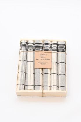 coffret-6-serviettes-de-table-matelas-noir