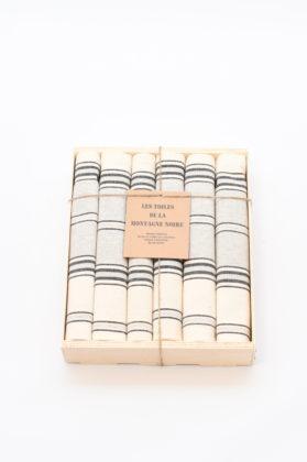coffret-6-serviettes-de-table-raye-gris