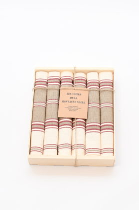 coffret-6-serviettes-de-table-raye-tabac