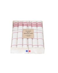 coffret-serviette-de-table-rayee-rouge