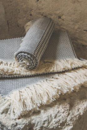serviette nid abeille coton noire