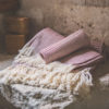 serviette nid abeille coton rouge