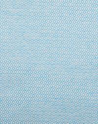 zoom-coupon tissu jacquard medaillon bleu