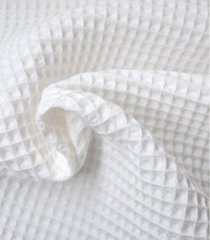 tissu-nid-abeille-blanchi