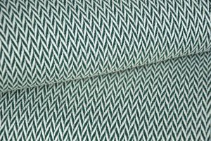 plaid vert sapin chevron en coton et laine